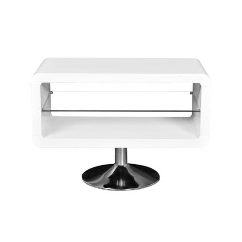 Meuble de télévision LED blanc brillant