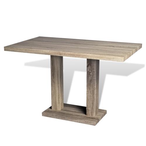 Table en MDF aspect chêne