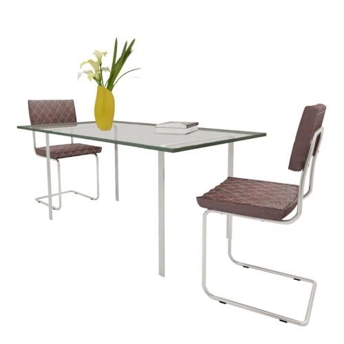 Chaise de salle à manger 2 pcs Cuir synthétique Marron