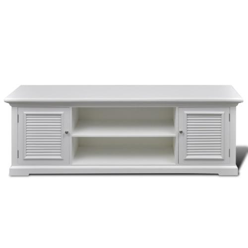 Meuble de télévision en bois blanc