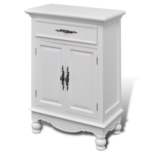 Meuble blanc en bois blanc