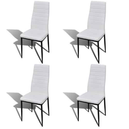 Lot de 4 chaises Salle à Manger Blanc