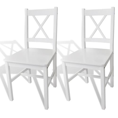 Lot de 2 chaises en Bois Blanc