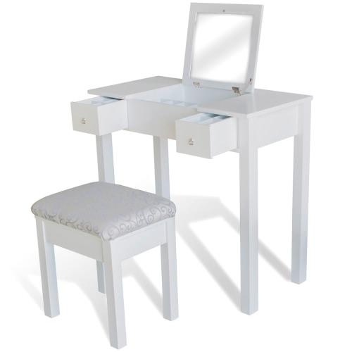 Coiffeuse avec fauteuil blanc
