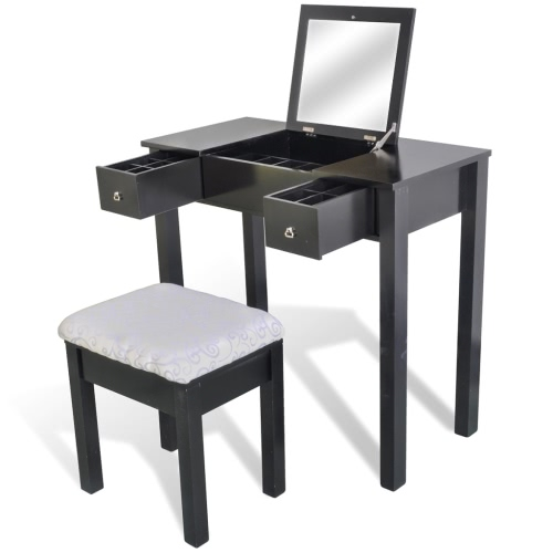 Coiffeuse avec fauteuil noir