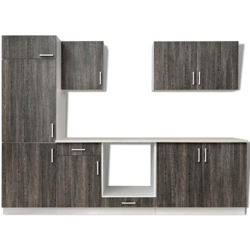 Ensemble de 7 meubles de cuisine pour réfrigérateur