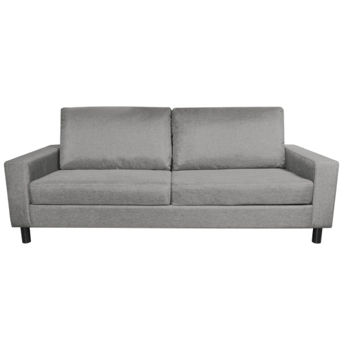 Canapé 3 places gris clair