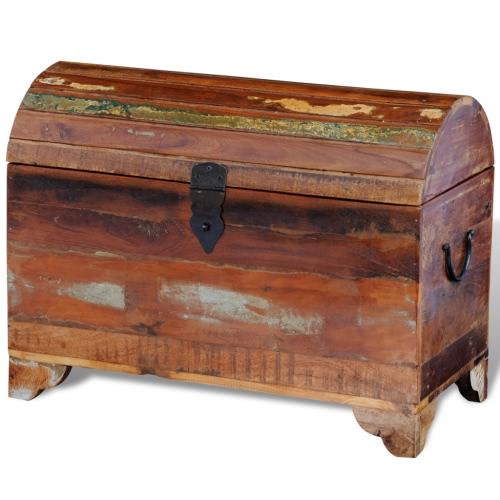 Coffre de rangement en bois recyclé