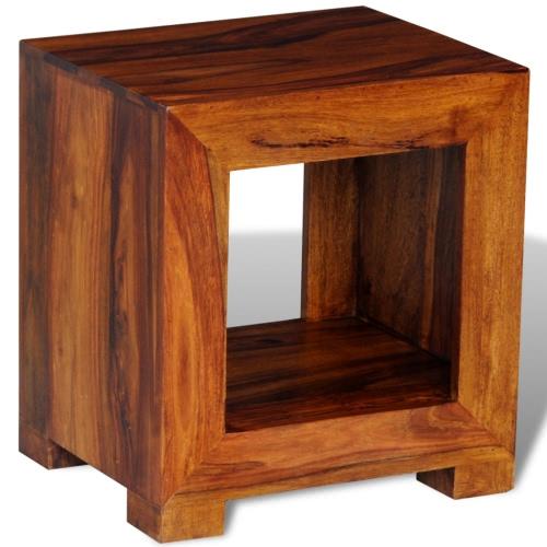 Table basse d'appoint en bois massif