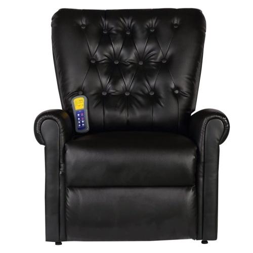 Fauteuil de massage électrique inclinable noir