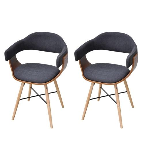 Lot  de 2 fauteuils en bois cintré