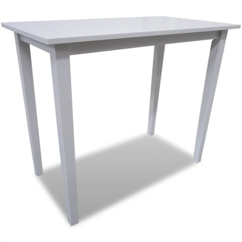 Table haute en bois blanc