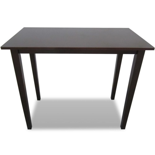 Table haute en bois marron