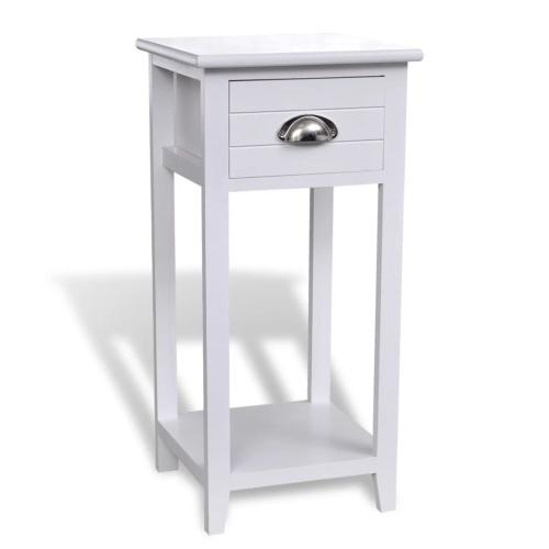 table de chevet avec tiroir blanc. Black Bedroom Furniture Sets. Home Design Ideas