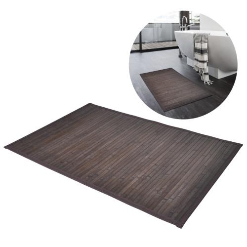 bambù tappetino da bagno 60 x 90 cm marrone scuro