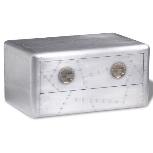 Table basse avec tiroirs -Aluminium