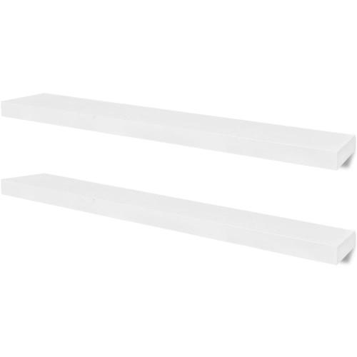 Lot de 2 étagères murales Blanc L100 cm