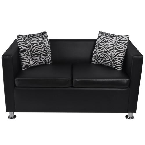 Canapé design Club pour 2 personnes - Noir