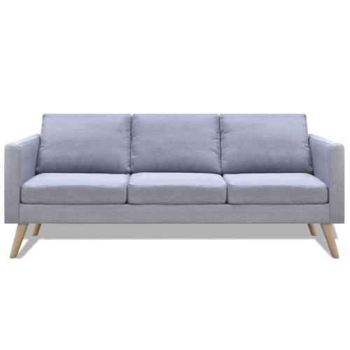 Canapé tissu gris clair - 3 personnes