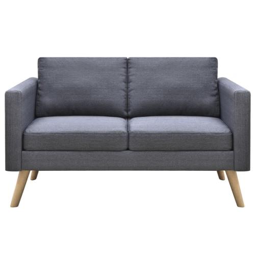 Canapé en tissu gris foncé - 2 personnes