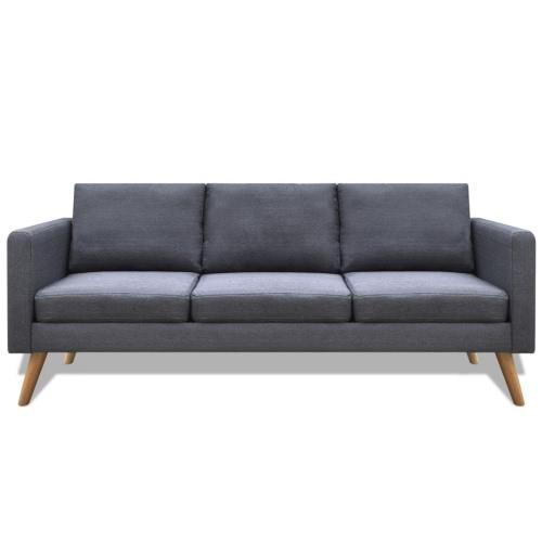 Canapé en tissu gris foncé - 3 personnes