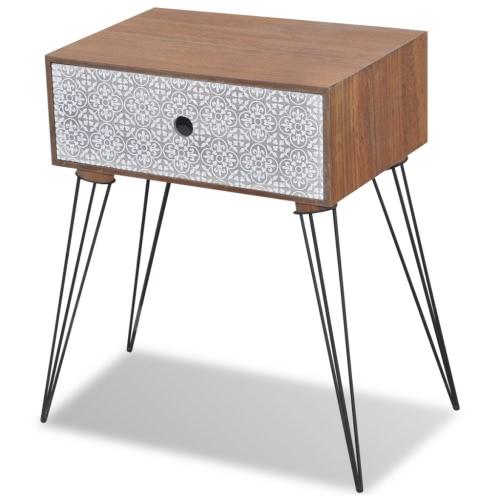 Table de chevet Brun