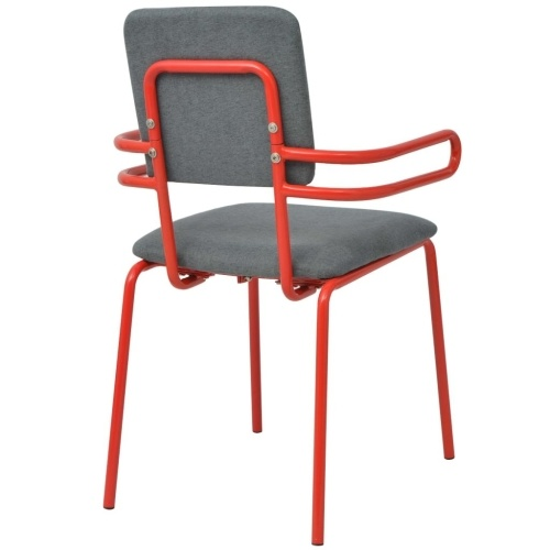 Dining chair / armchair 2 pcs Red and gray