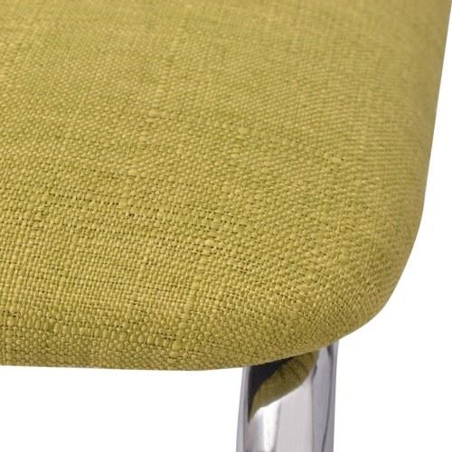Sedia da pranzo in tessuto verde