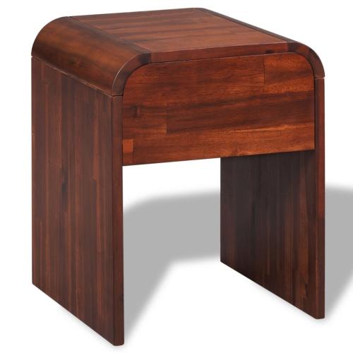 Table de chevet en acacia