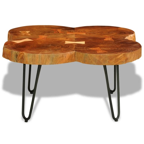 Table basse en bois massif Sheesham