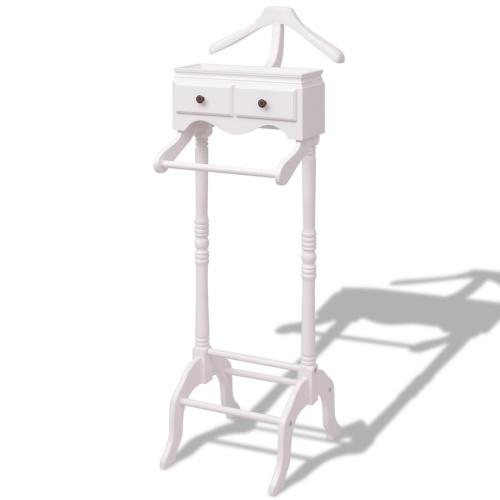 Kleiderständer mit weißem Holzgehäuse