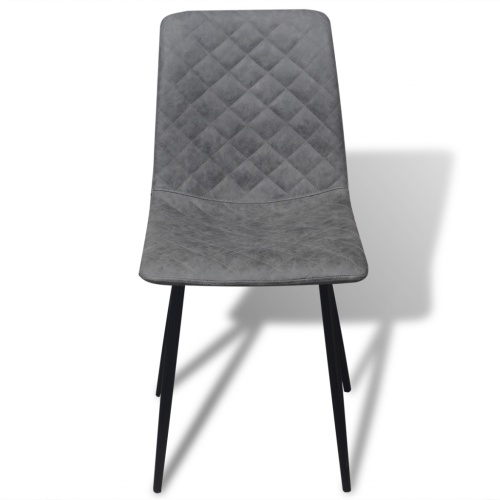 chairs 4 pcs in artificial leather gray