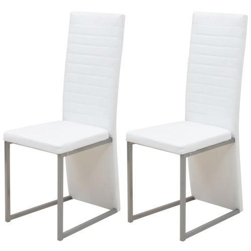 white 2 pc dining chair