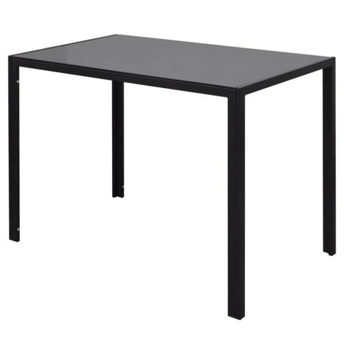 Черно-белый комплект из пяти частей обеденного стола