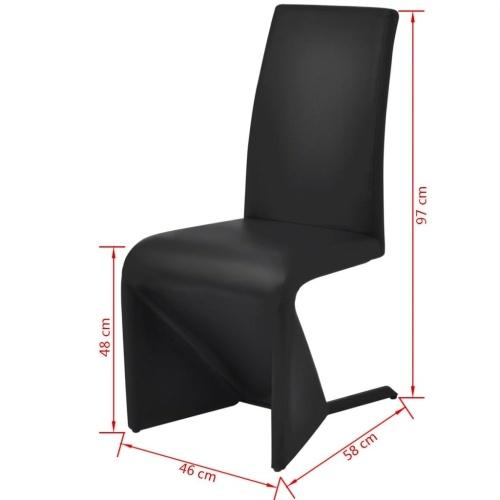 Консольные обеденные стулья 2 шт. Искусственная кожа