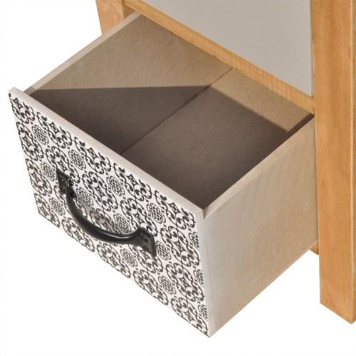 Kleiderschrank mit Schublade 34 x 34 x 46 cm Massivholz