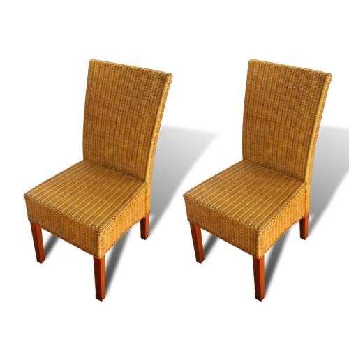 2-Piece Браун Ротанг Обеденные стулья