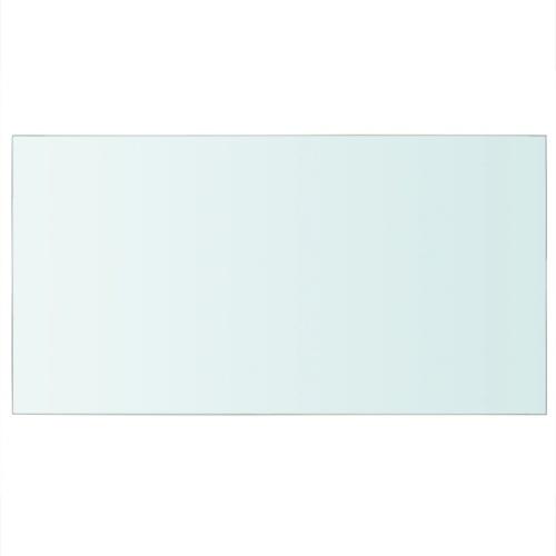 shelf panel transparent glass 40 x 25 cm
