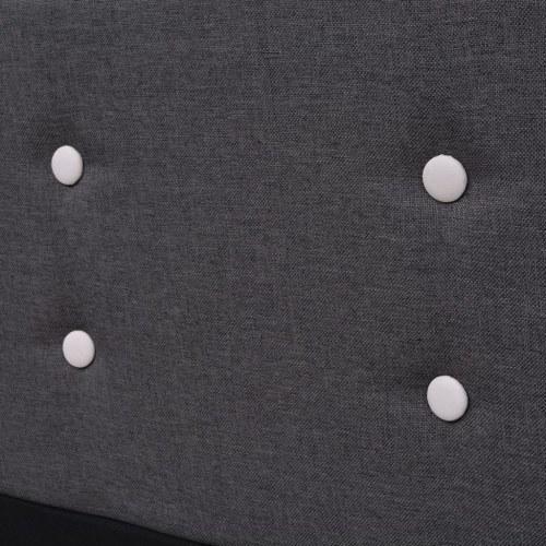 Telaio del letto 160 x 200 cm Rivestimento in tessuto grigio scuro