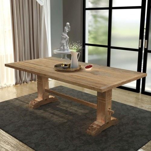 solid dining room table 200x100x75 cm teak wood