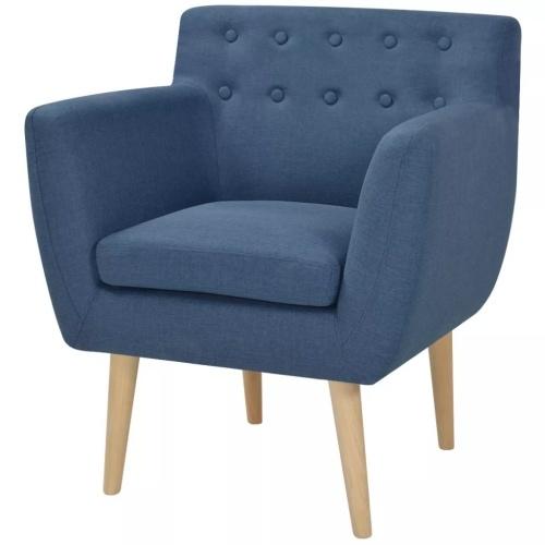 Fauteuil Tissu Bleu