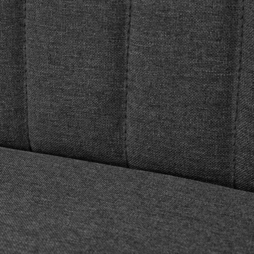sofa 117 x 55,5 x 77 cm dark gray fabric title=sofa 117 x 55,5 x 77 cm dark gray fabric