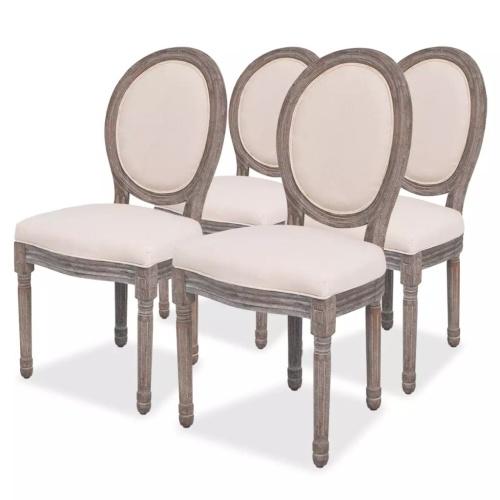 Chaises de salle à manger lot de 4 Lin