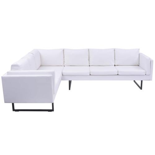 corner sofa white artificial leather