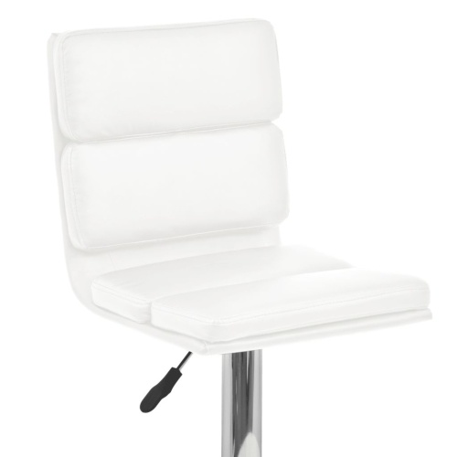 Festnight 2 Pcs White Artificial Leather Swivel Bar Stool