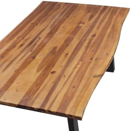 ダイニングテーブル200 x 90 cmソリッドアカシア木材