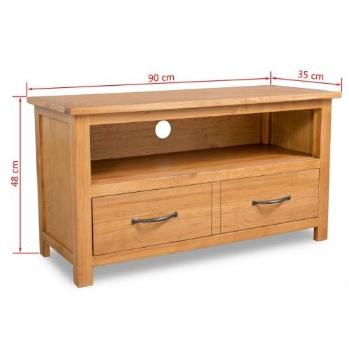 Oak TV-Ständer 90 x 35 x 48 cm