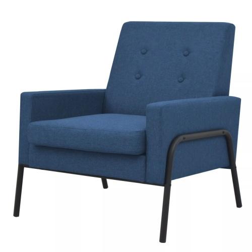 Fauteuil Acier et tissu Bleu
