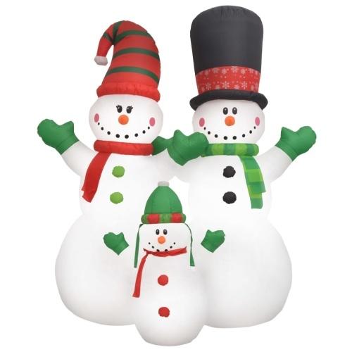 Bonhomme de neige gonflable Famille noël LED IP44 240 cm