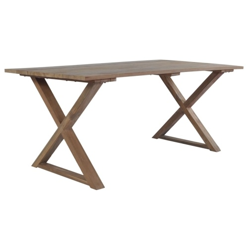 Festnight Dining Table Teak Reclaimed 180x90x76 cm